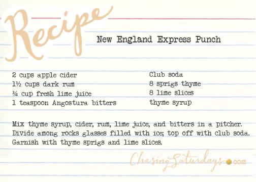 new england express punch - chasing saturdays