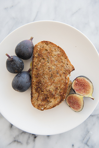 fig jam and gruyère grilled cheese - chasing saturdays