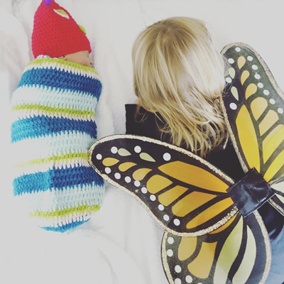 caterpillar  and butterfly - chasing saturdays
