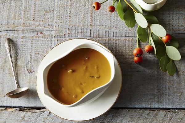 vegetarian mushroom thyme gravy via Food52 - chasing saturdays