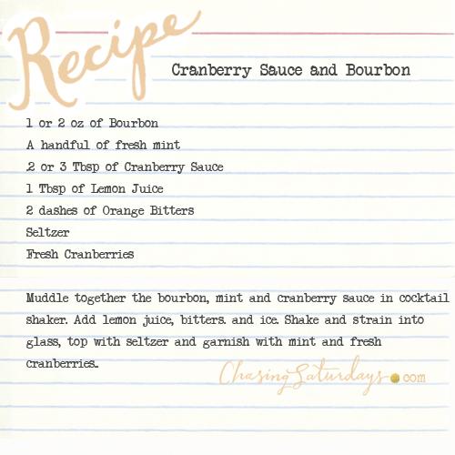 cranberry sauce and bourbon - chasing saturdays