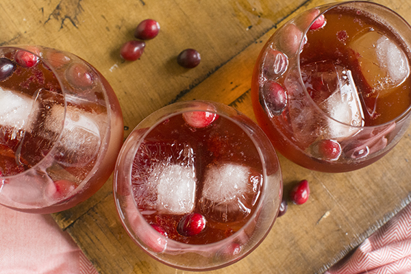 cranberry-ginger sparkling rum cider - chasing saturdays
