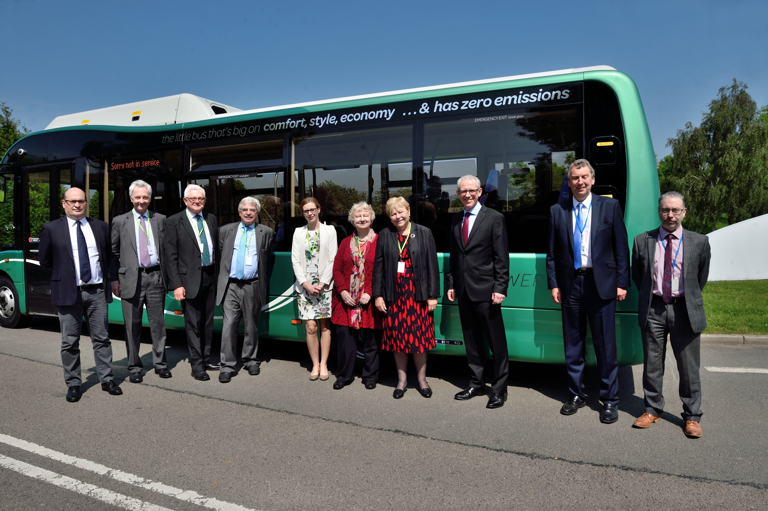 House of Lords EU comittee with Optare Solo EV.jpg