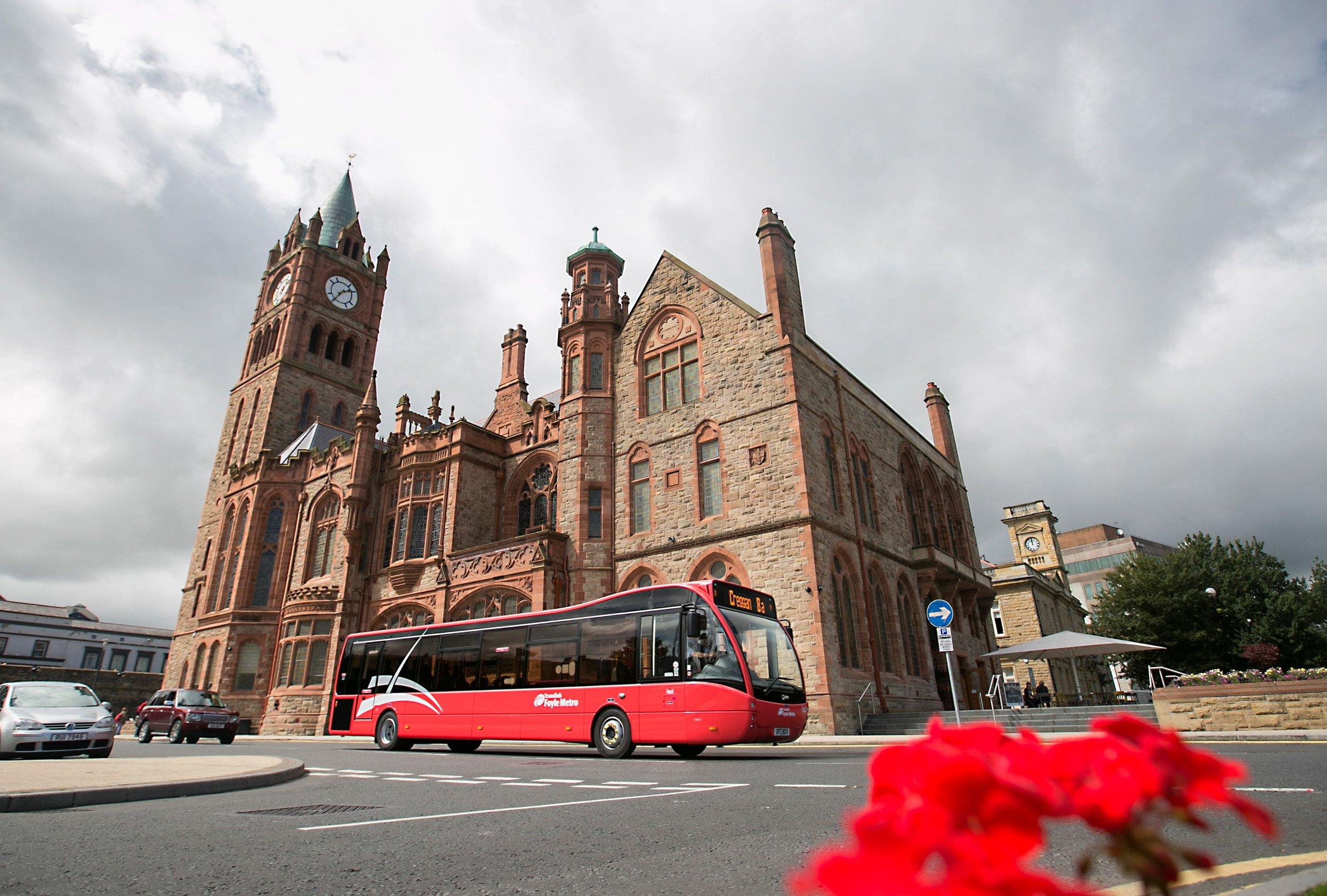 Translink Derry Red in service.jpg