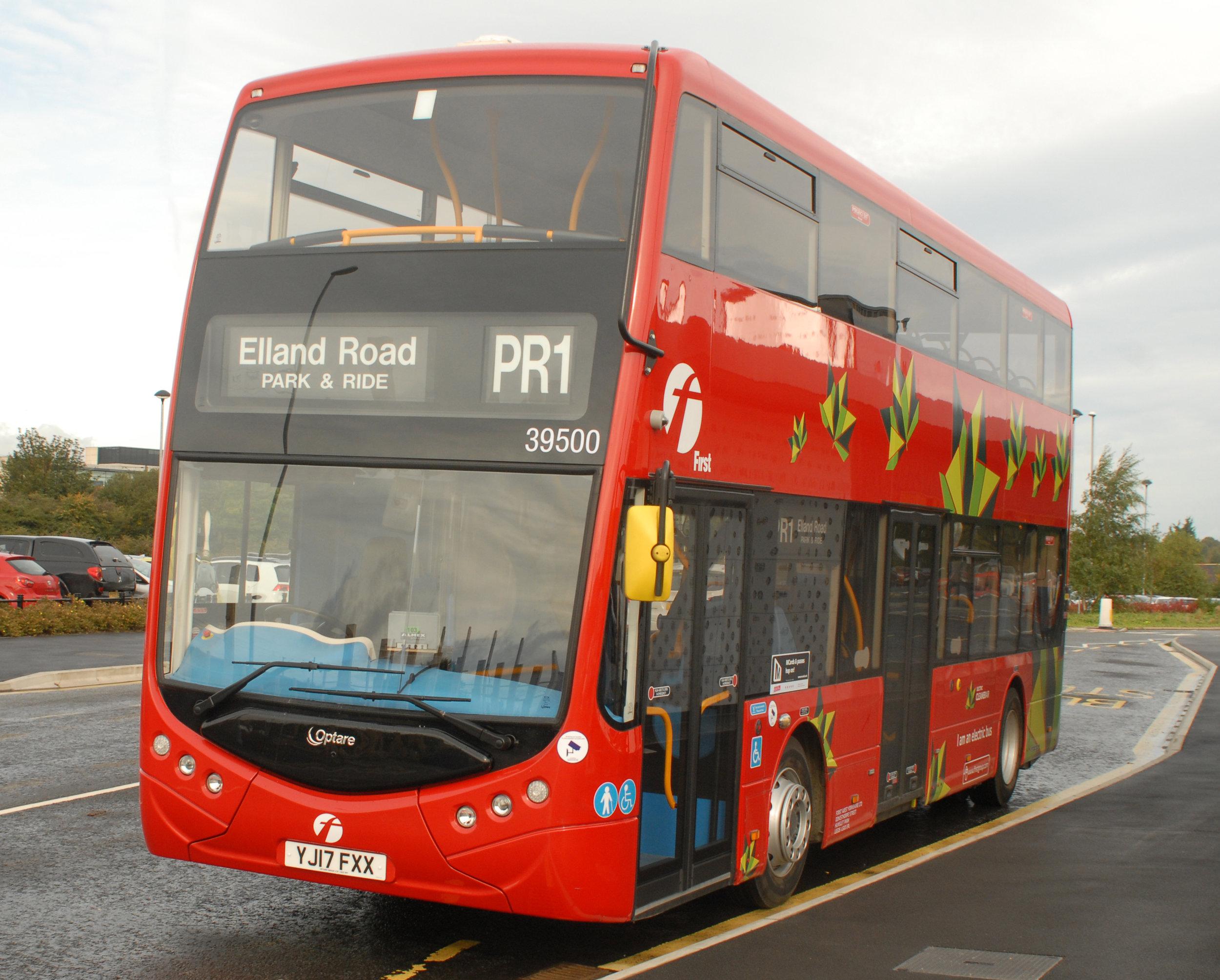 The Metrodecker EV in-service trials in Leeds last year.