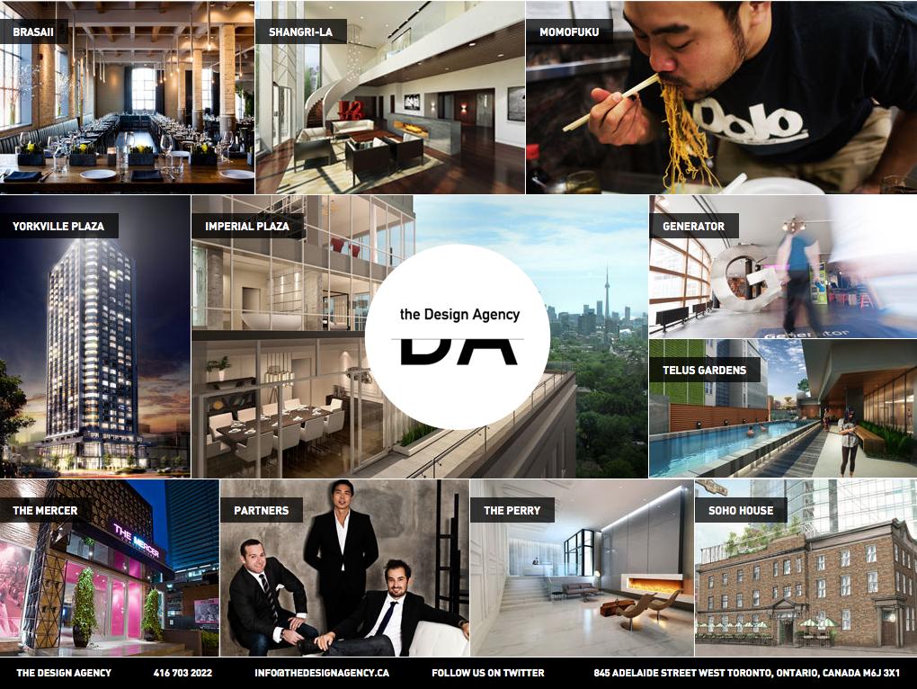 toronto based, the design agency. website developed in html5