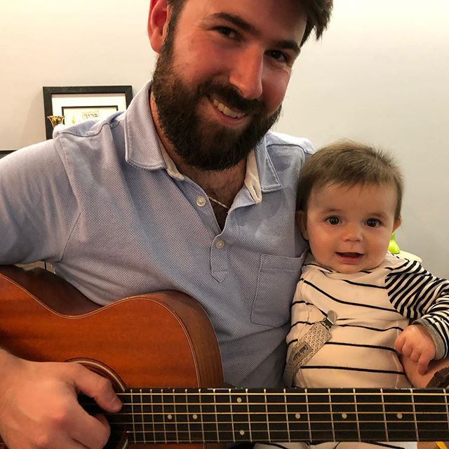 My little cousin Zeke likes when I play guitar!