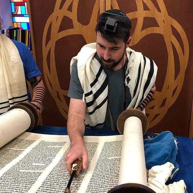 Loving my new Yad and putting it to good use!! Huge thank you to Dafna Robinson who hand crafted this gorgeous piece of useable artwork. #torah