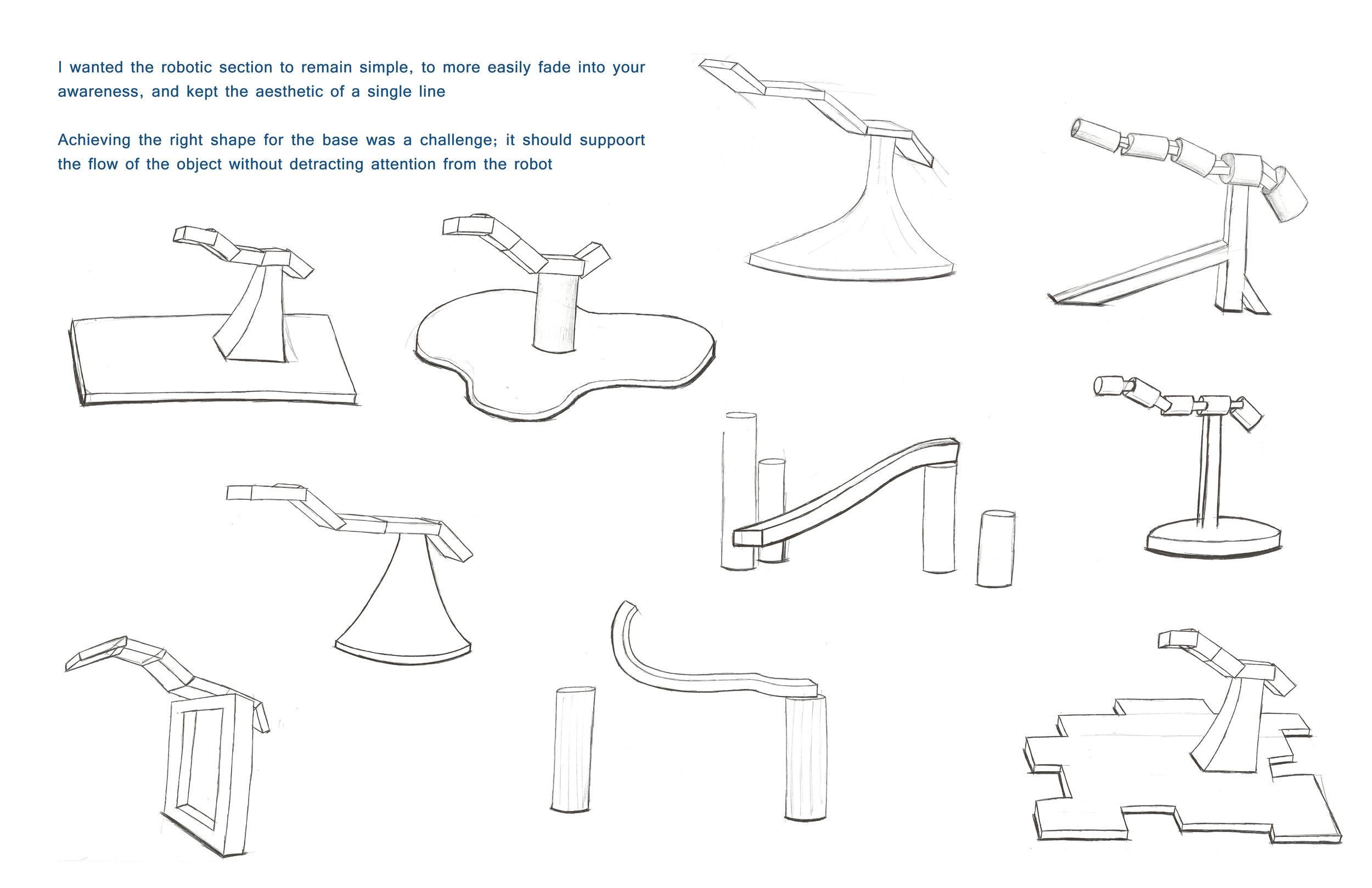 Emotive Robotics sketches Brian Lieb