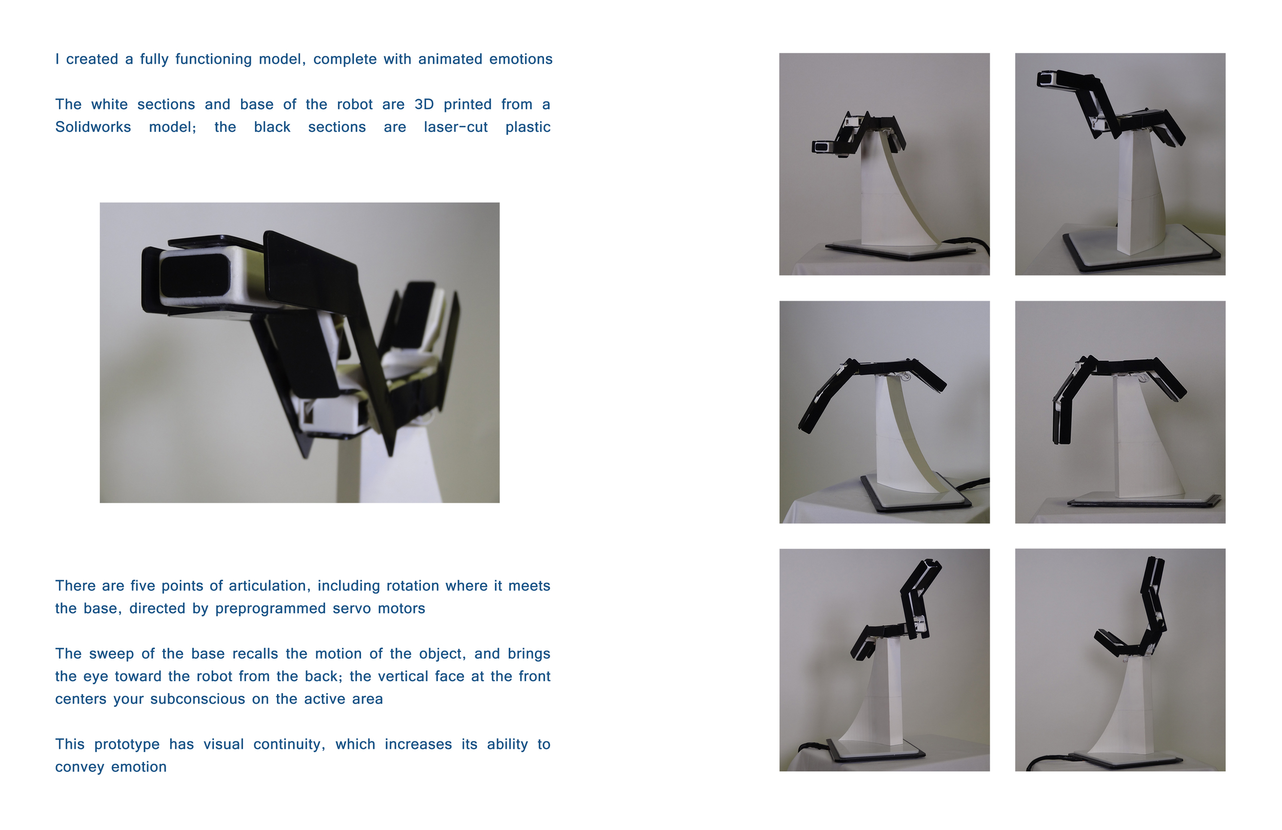 Emotive Robotics 3D printed prototype Brian Lieb
