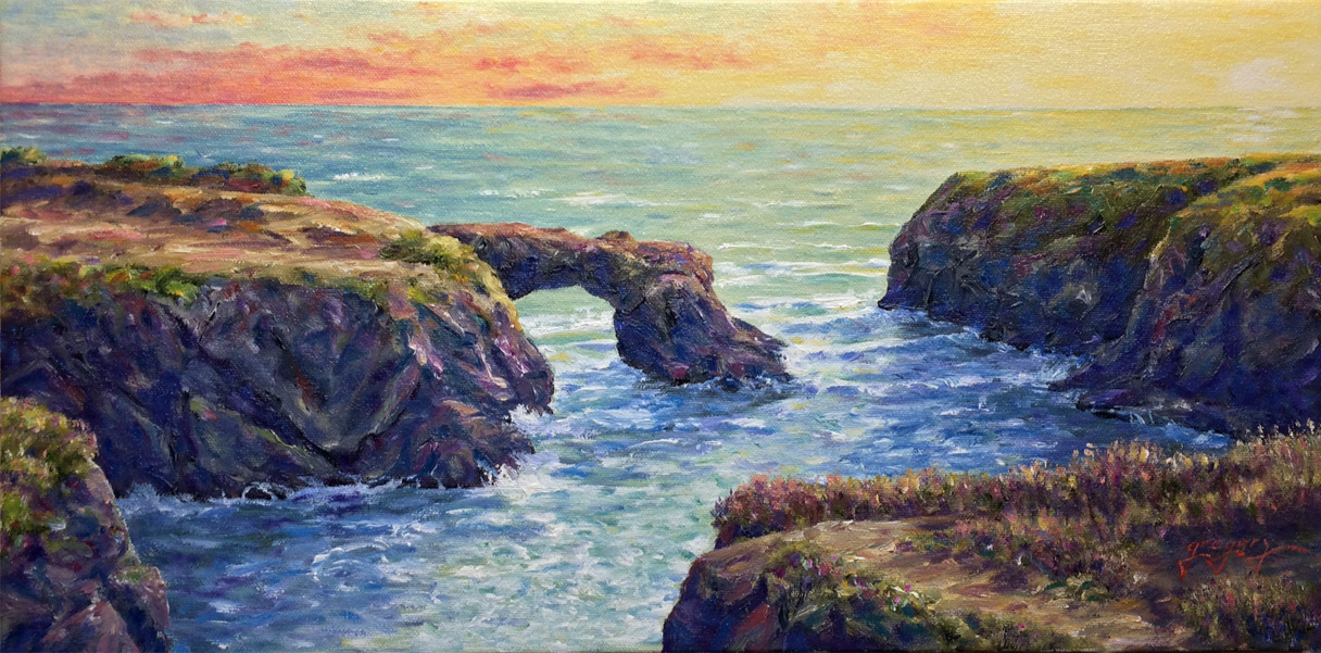 Sea Arch at Sunset