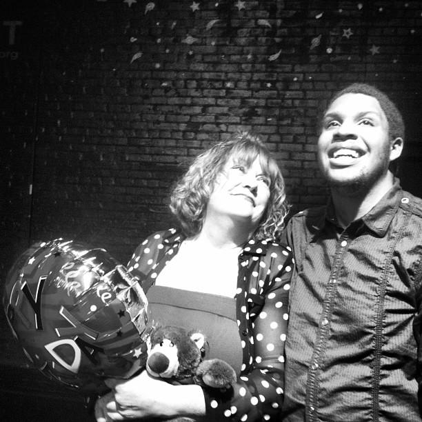 Ensemble Members,  Tosh Hall and Sarah Rosenberg  in   Quando Sei Qui, Se Fossi di Famiglia  by  John Rosenberg . Urban Waves@ Open Hydrant Theater Co. November, 2013.