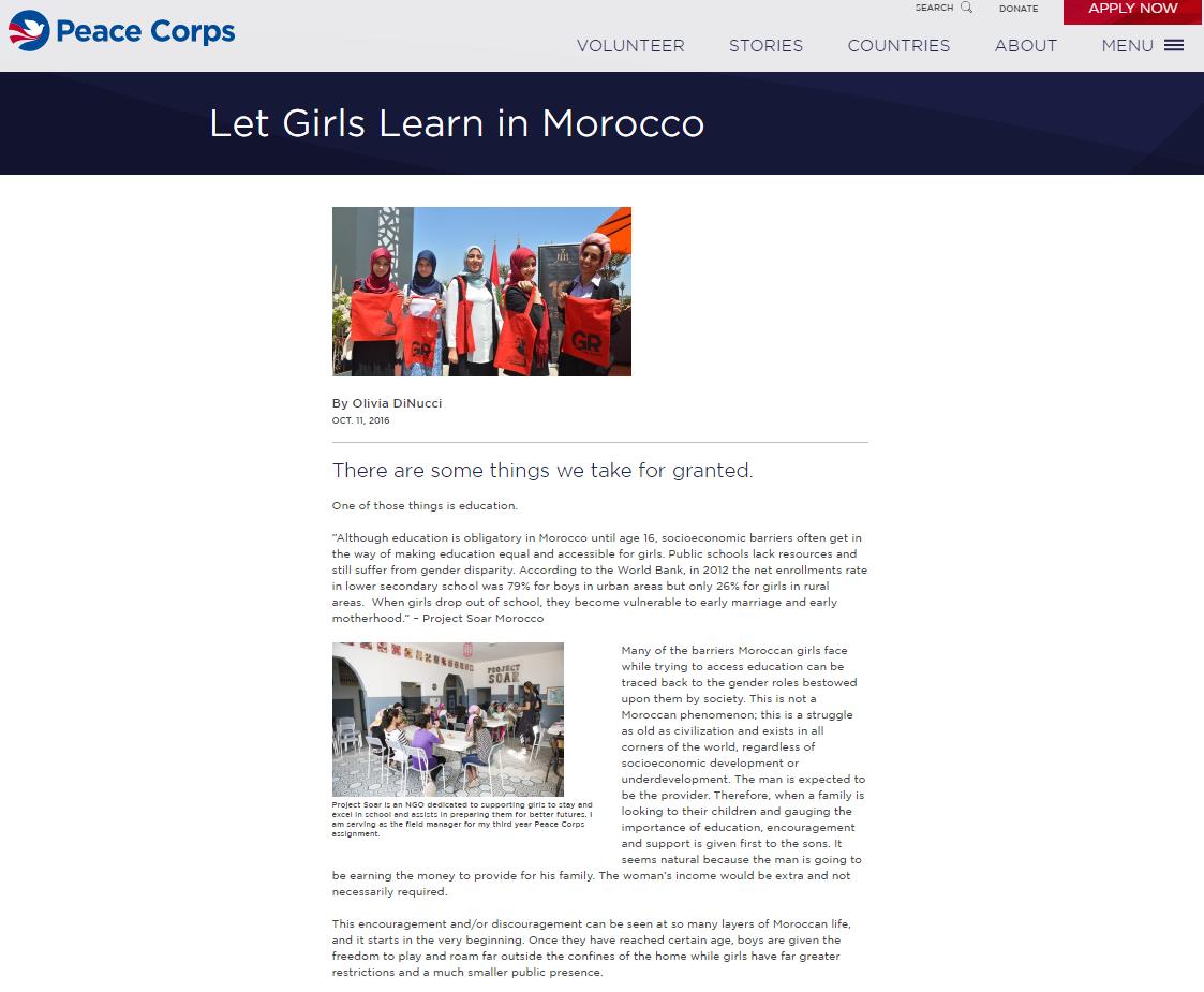 Peace Corps Blog, Olivia DiNucci