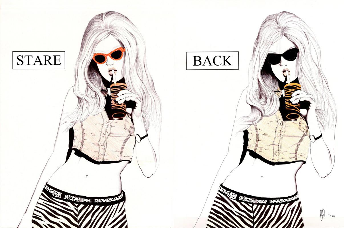 Dennis Fehr, STARE BACK, digital print