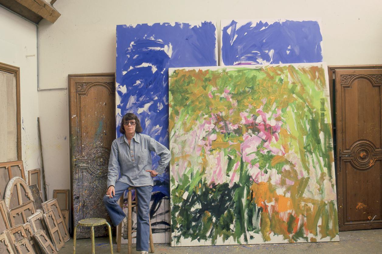 Joan Mitchell in she studio