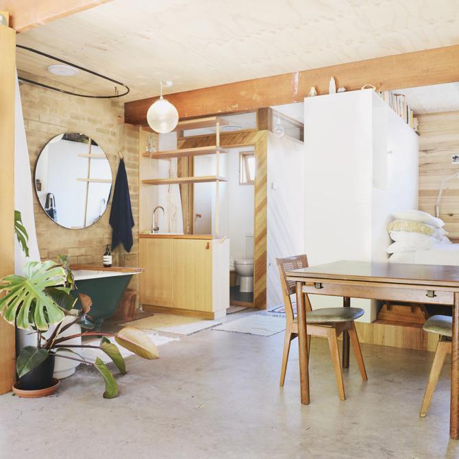 Garage Turned Studio Apartment