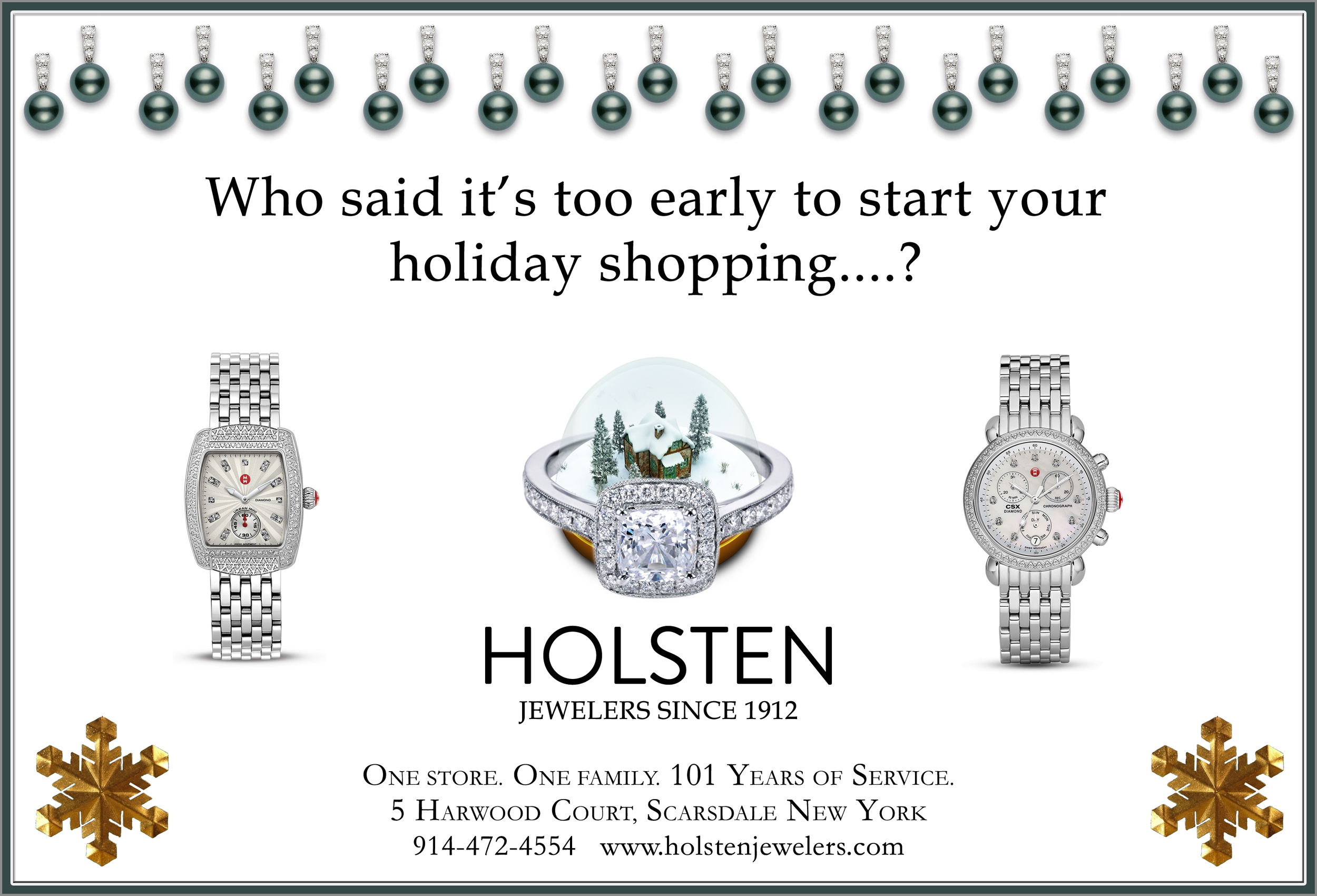 HOLIDAY AD FOR HOLSTEN JEWELERS