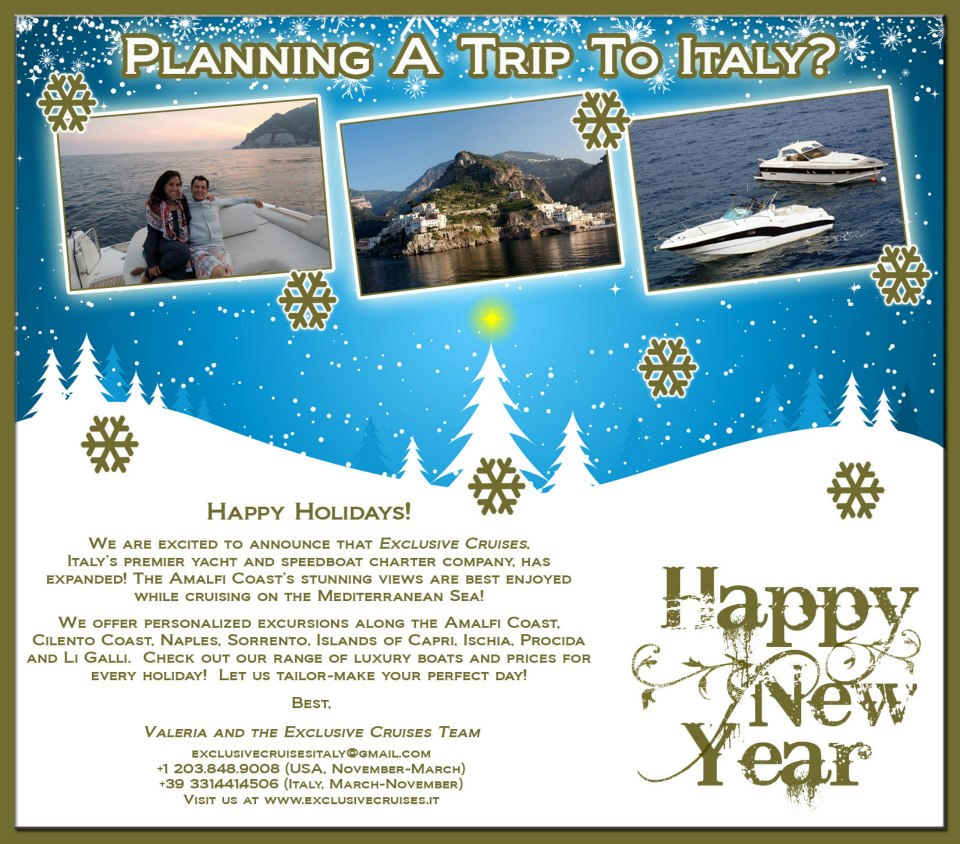HOLIDAY CARD FOR CLIENTS OF EXCLUSIVE CRUISES