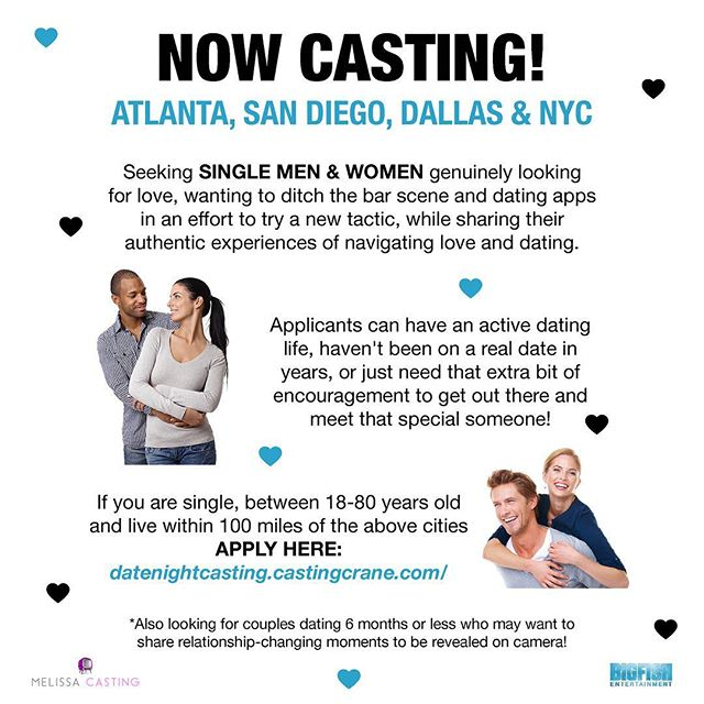 Are you tired of the dating scene? Are you ready and willing to try something new to meet your soulmate? Then apply now to be cast on a brand new show from @BigFishUSA and @MelissaCasting! 🔎❤️🎥 . #shiradanielsdesign #bigfish #melissacasting #nowcasting #applynow #lookingforlove #dating #love #datingapp #blinddate #barscene #single #singlelife #datenight #lovelife #relationships #relationshipgoals #relationship #soulmate #tv #television #artist #graphicdesigner #graphicdesign #graphicdesigns