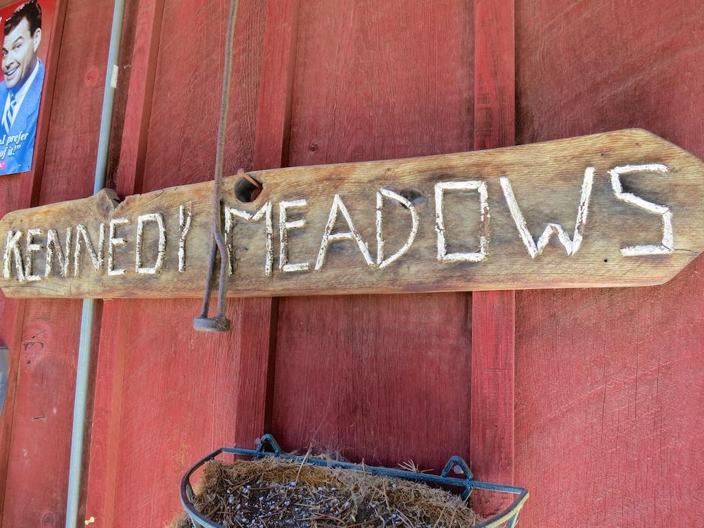 Kennedy Meadows Sign - Courtesy of    HalfwayAnywere
