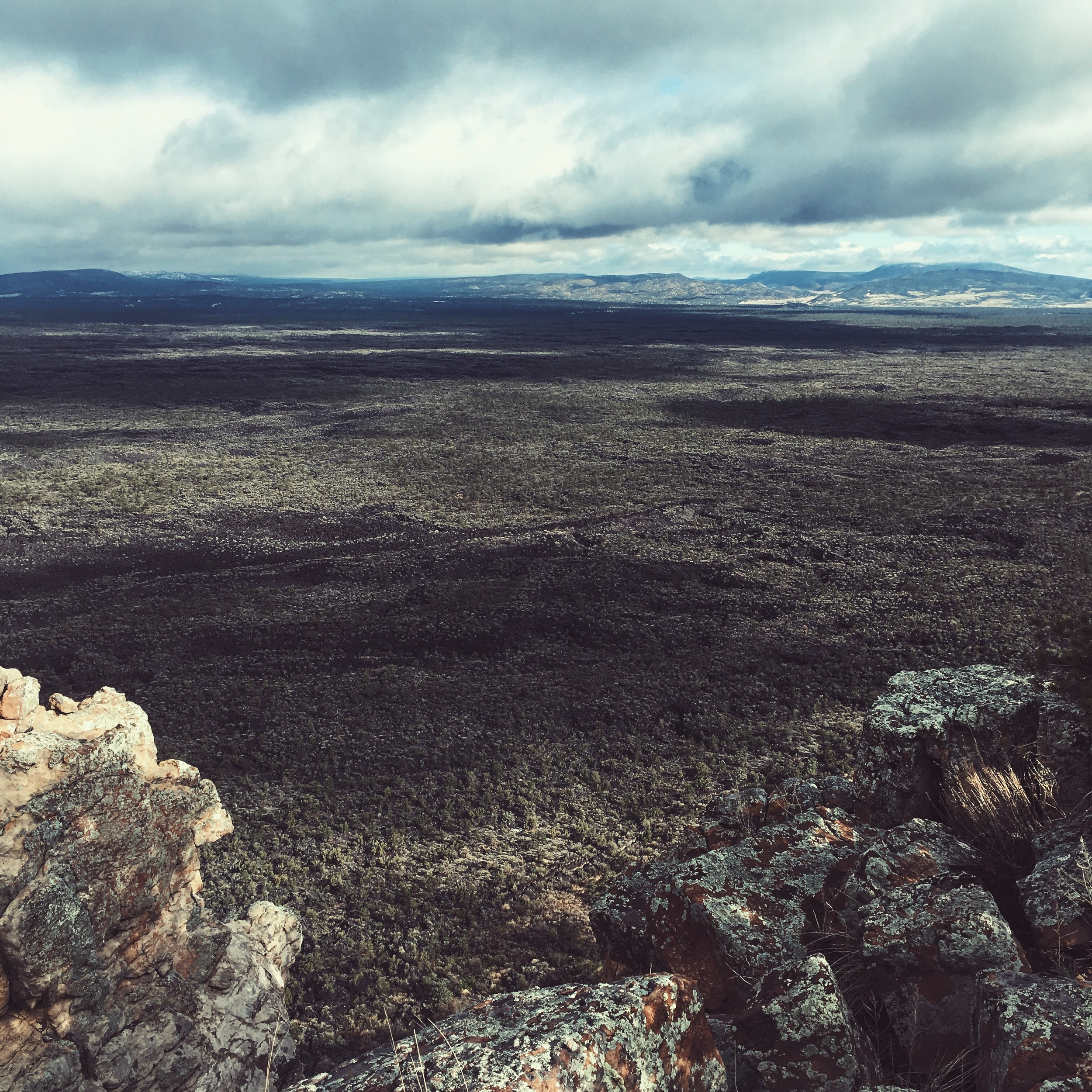 View of the lava fields we were soon to cross