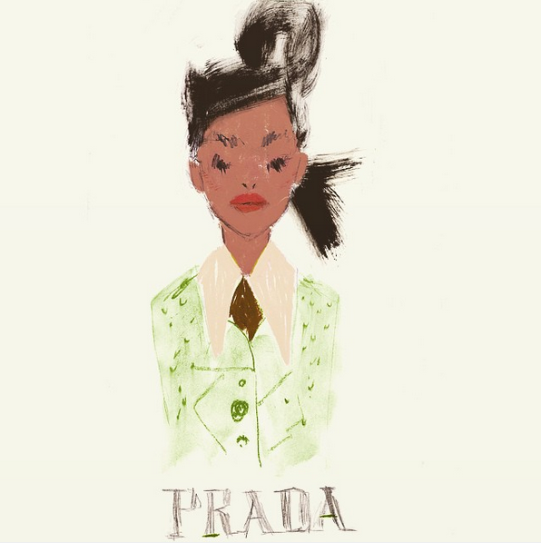 Julia Denos PRADA Fashion Illustration