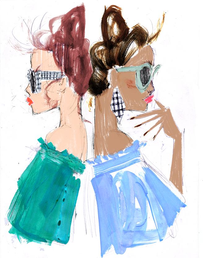 Julia Denos J.Crew Fashion Illustration