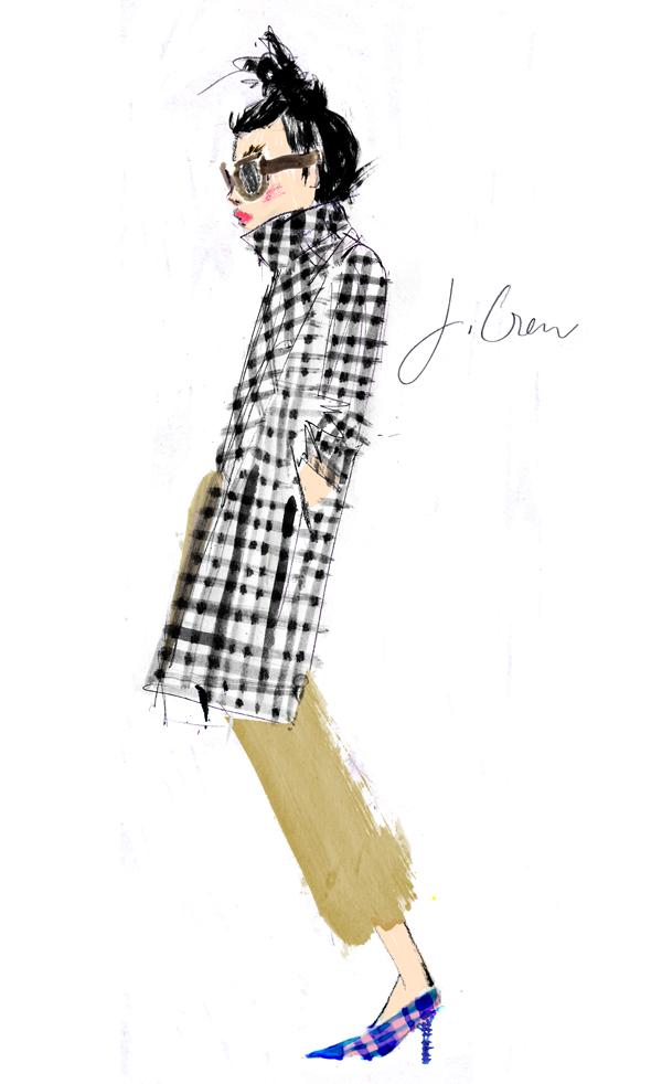 Julia Denos J.Crew illustration
