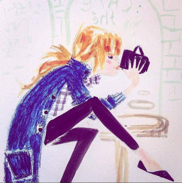 Julia Denos MADEWELL Fashion Illustration