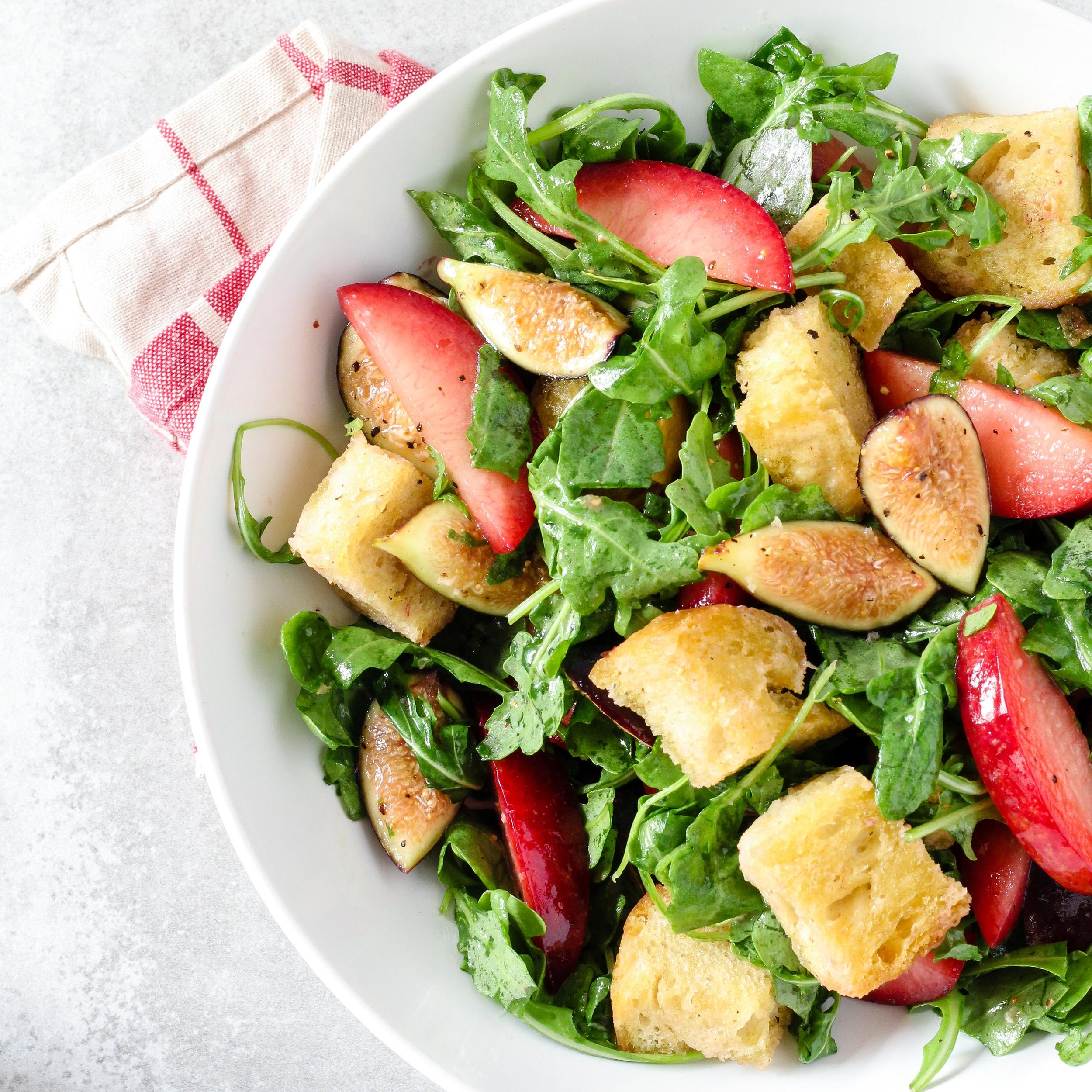 Gluten-Free Pluot & Fig Panzanella