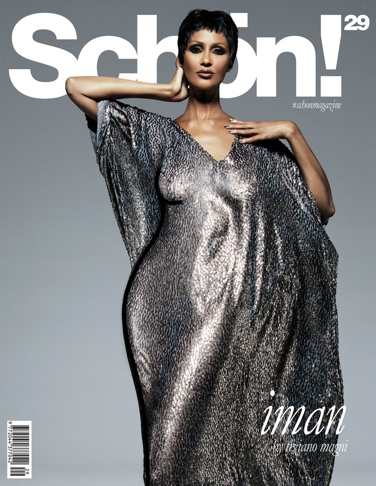 Iman, photo by Tiziano Magni, styled by Jenke Ahmed Tailly - Schon - September 2015