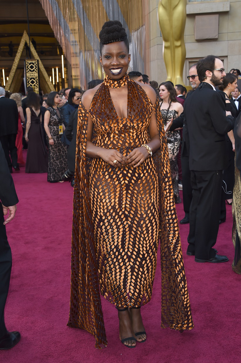 Adepero Oduye wearing sophie theallet oscar 2016 vanity fair party.jpg