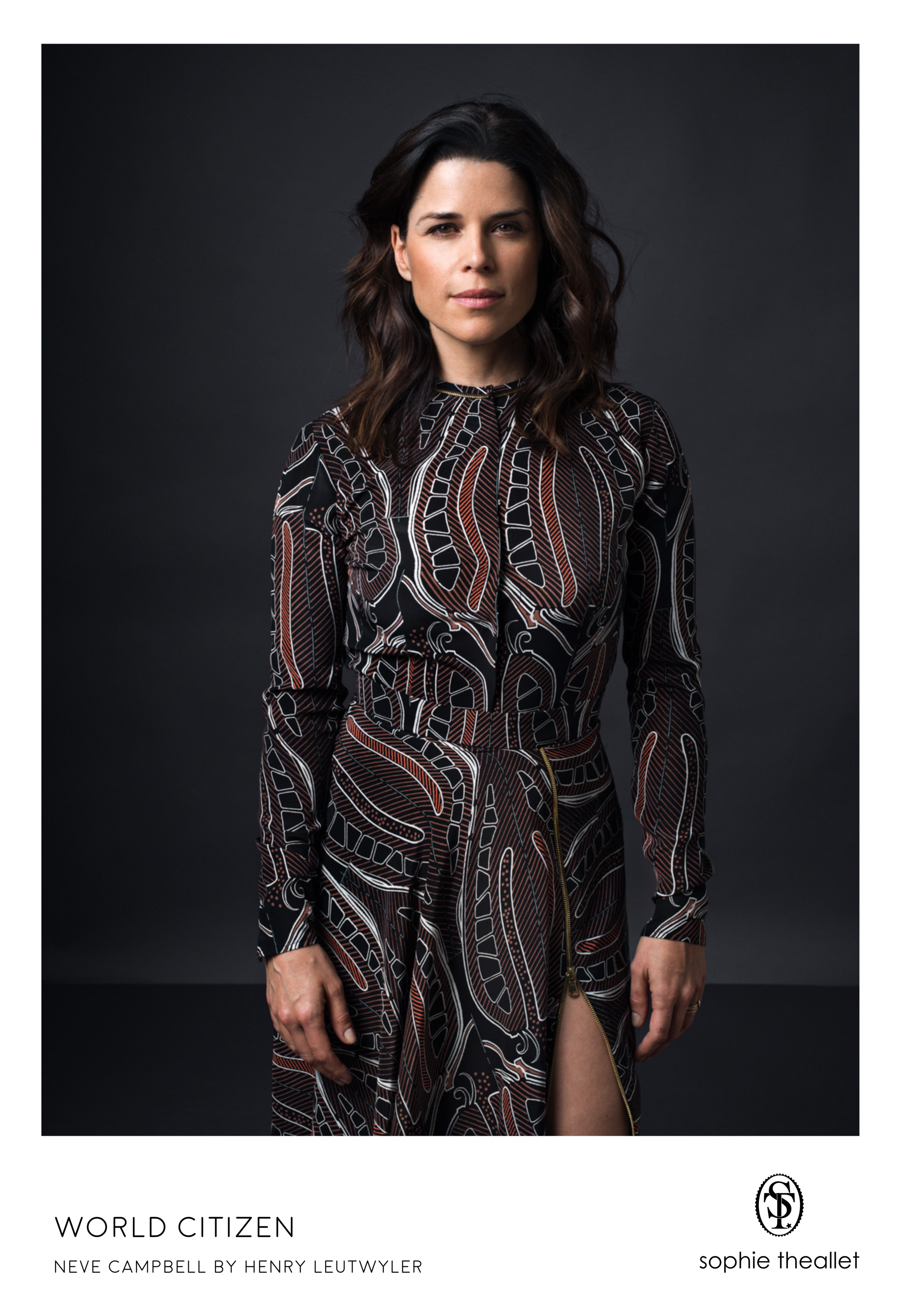 Neve Campbell by Henry Leutwyler - sophie theallet SS17