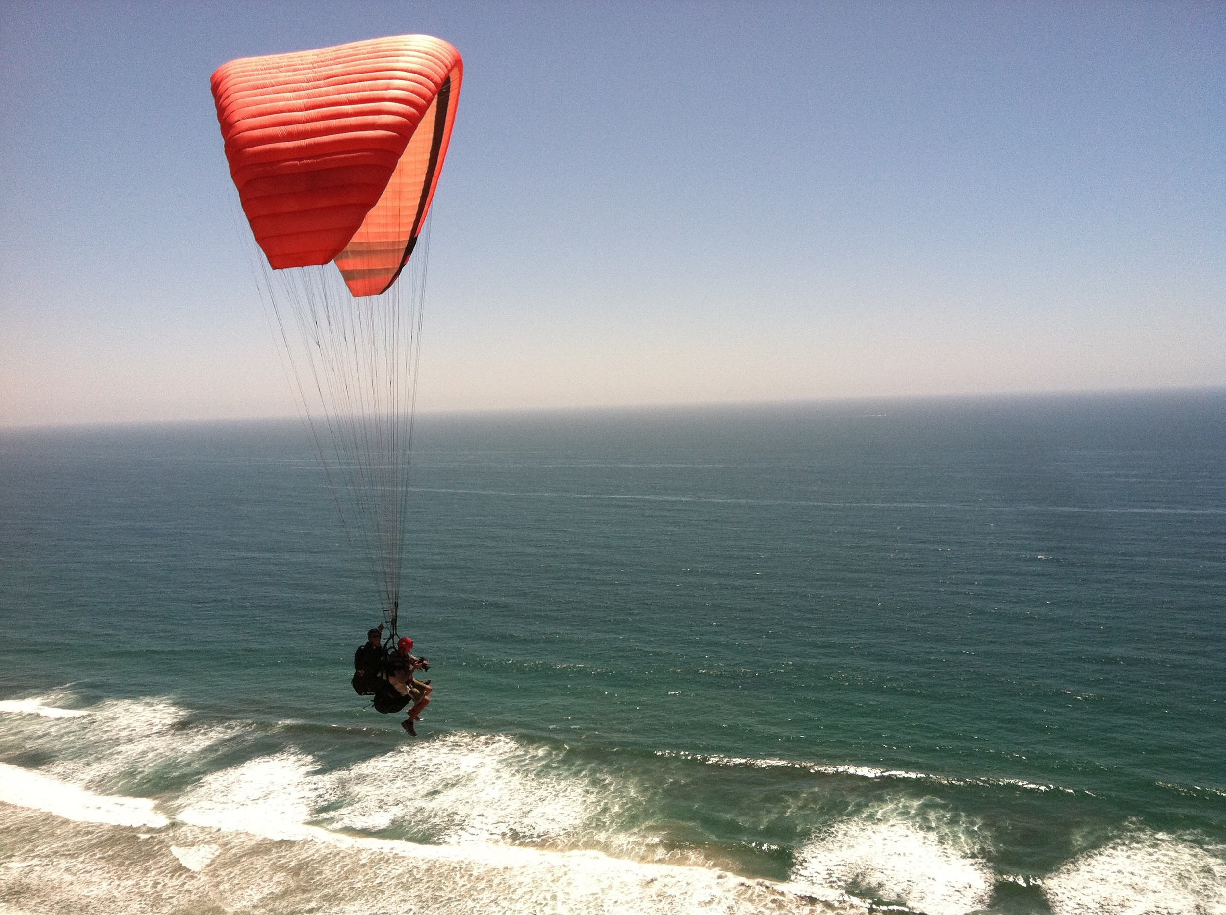 Paragliding off the Southern California coast