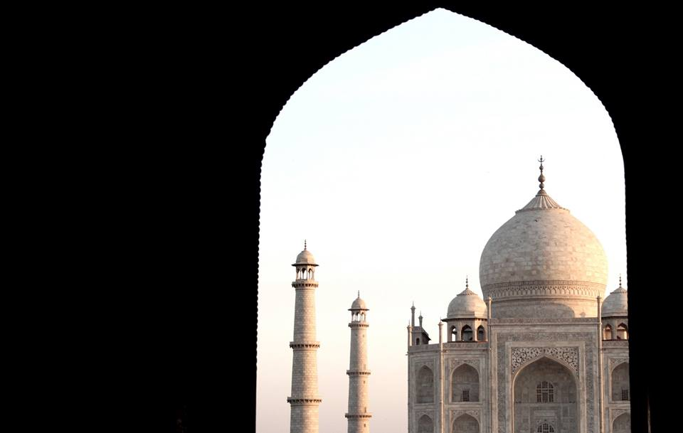 Agra's famed Taj Mahal   — India