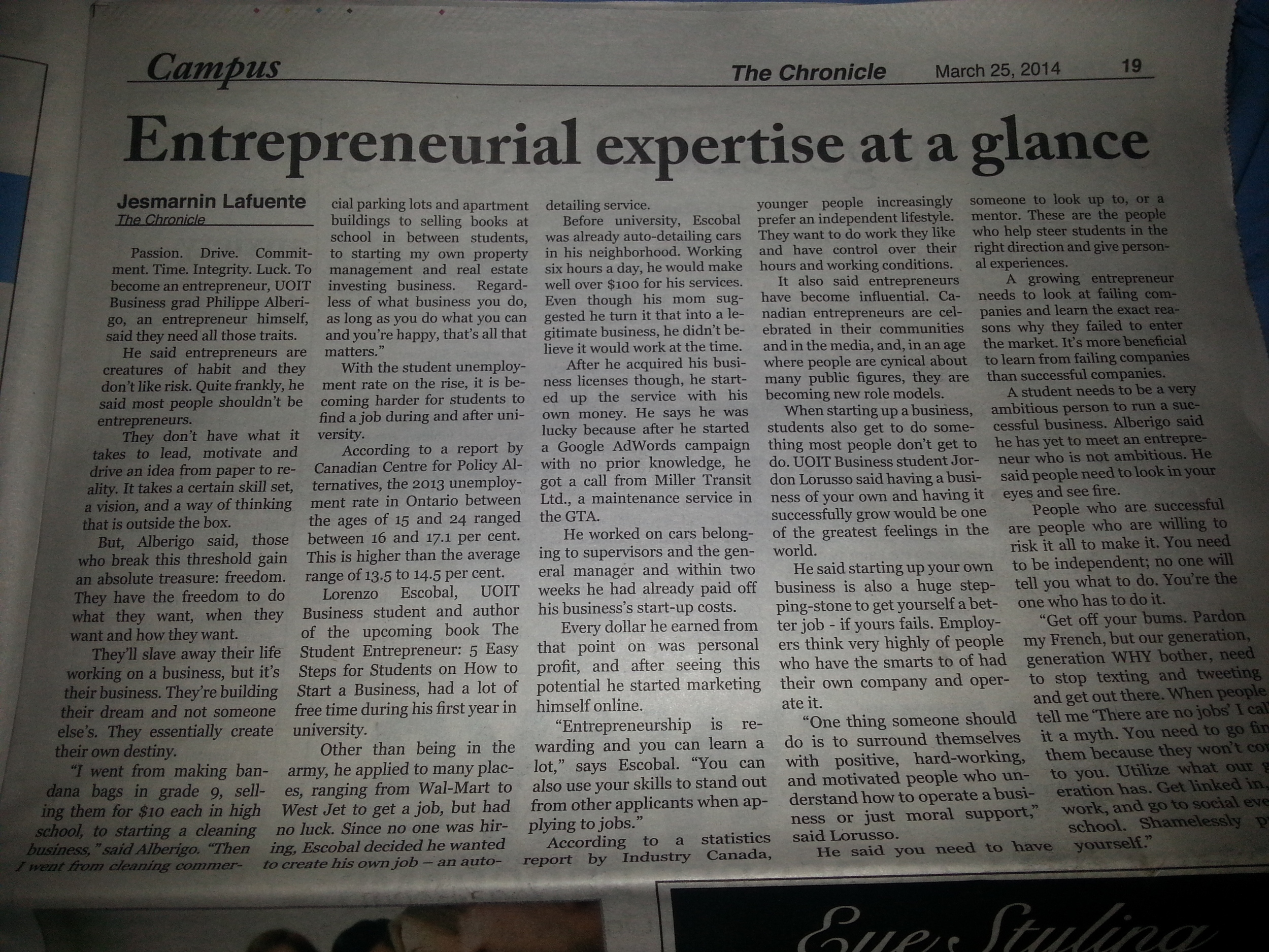 Entrepreneurial expertise at a glance