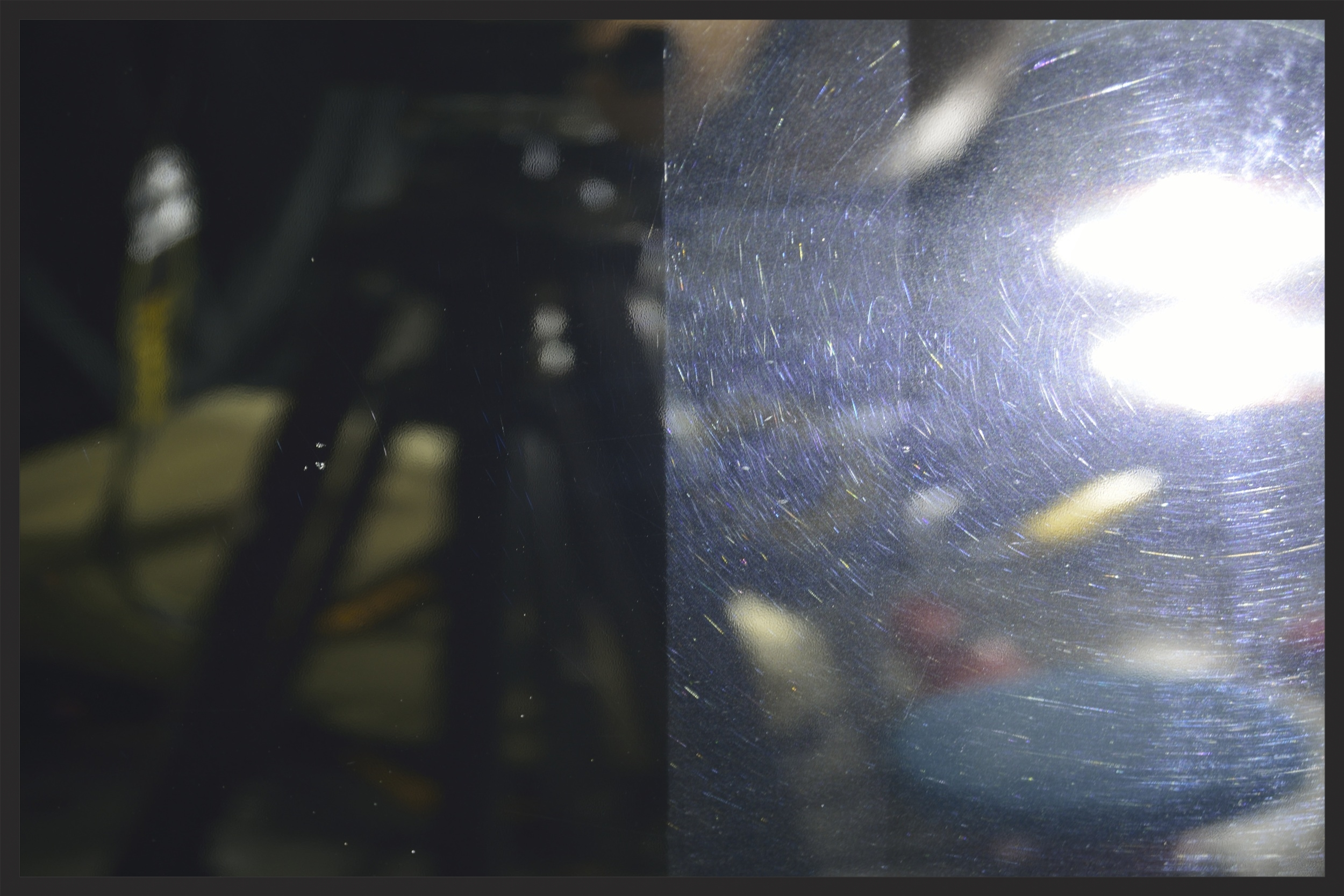 Paint Correction 50/50 Shot - Left Side After Correction, Right Side Before Correction