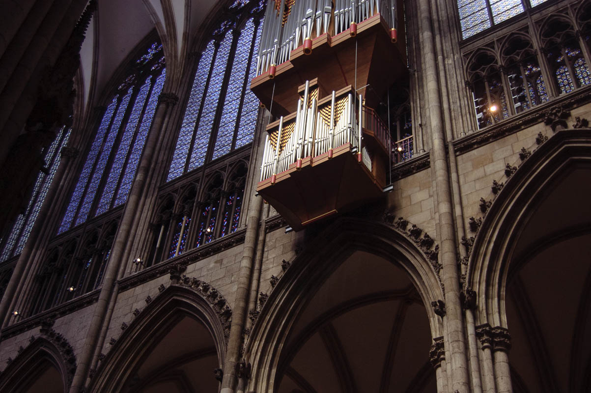 One of three ginormous organs in the Cologne Dom, the biggest cathedral like ever.