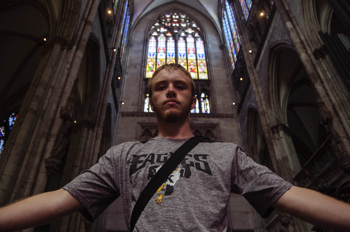 One of the incredibly limited times my brother would let me take his picture. Of course it would be in the Dom.