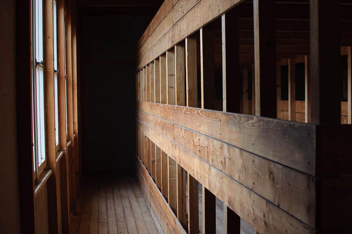 Dachau prisoner's bunkhouse