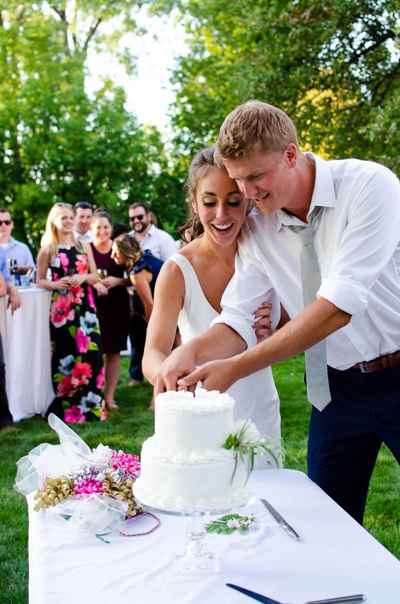 grand isle backyard wedding reception