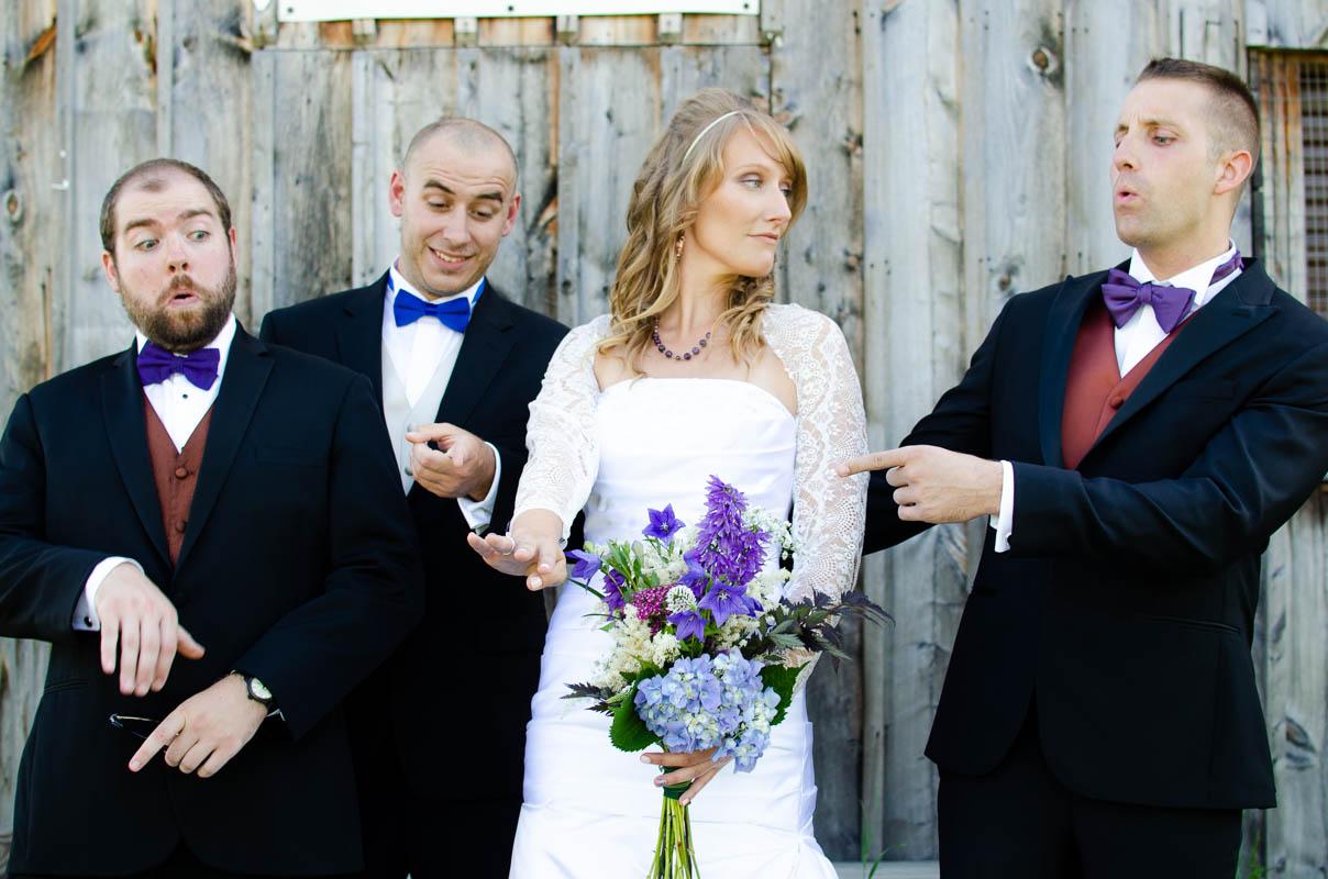 vermont barn sassy grooms party portrait