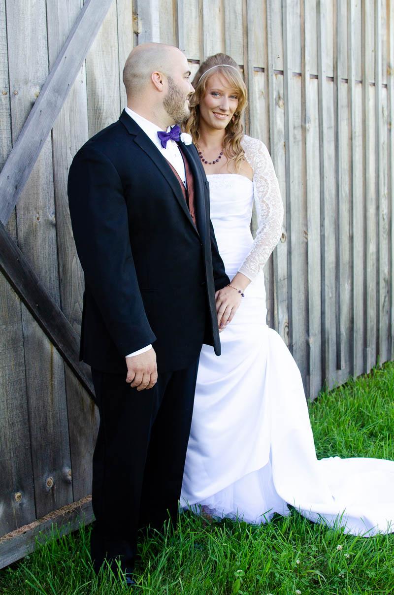 vermont backyard barn wedding portrait