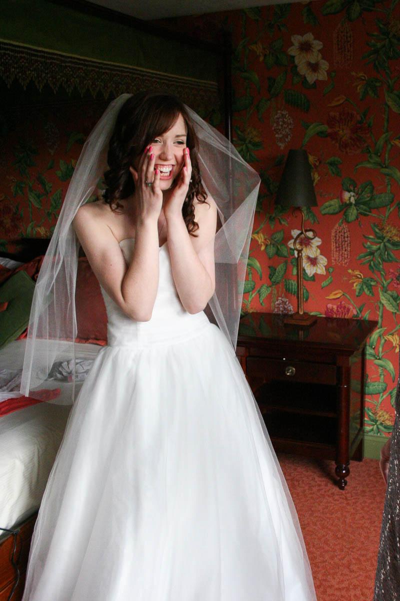new england bride getting ready