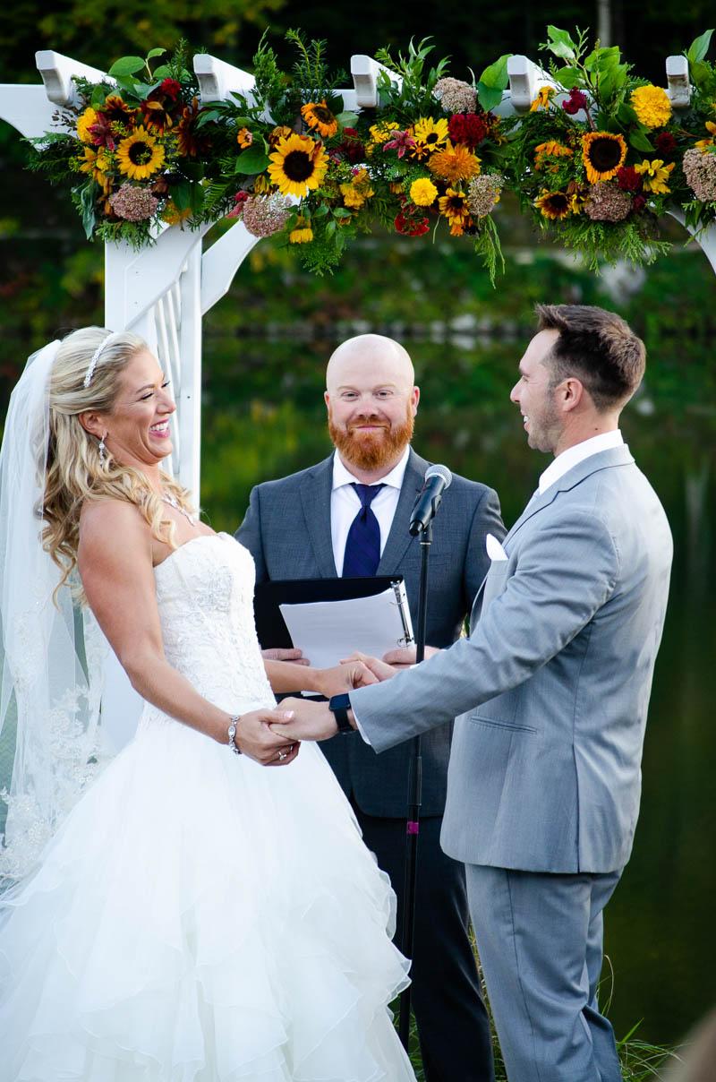 killington vermont fall wedding ceremony