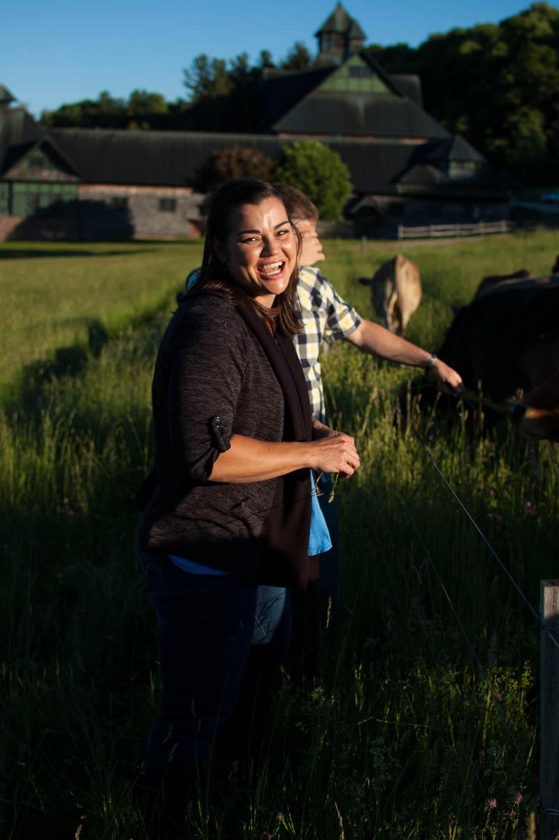 shelburne farms engagement portrait