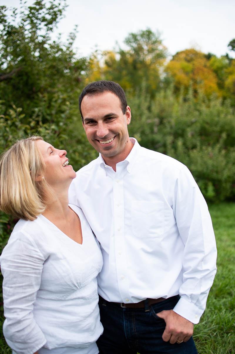 shelburn orchards vermont couples portrait