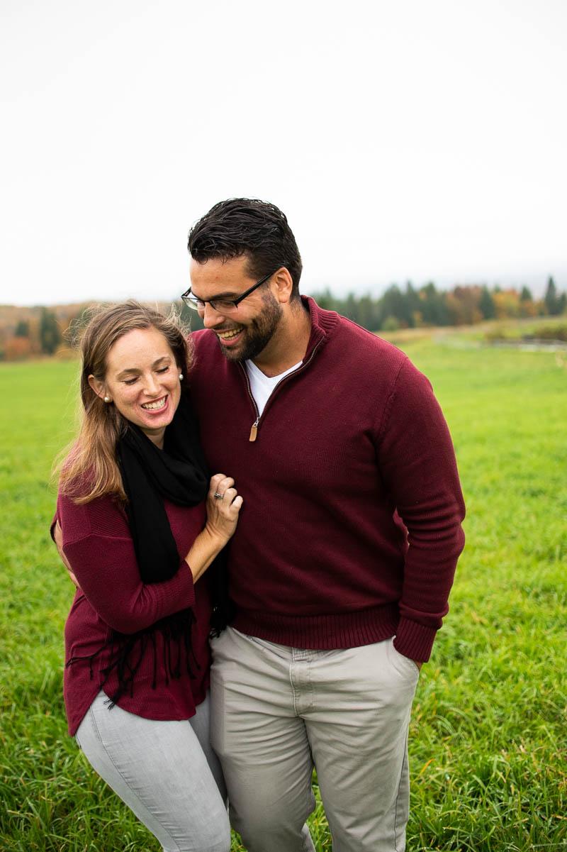 vermont backyard couples portrait