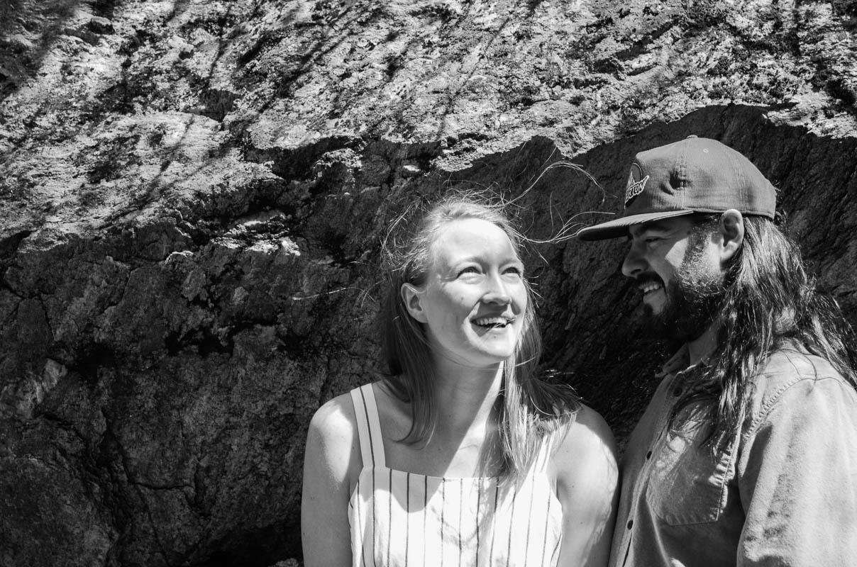 vermont woodland engagement portraits