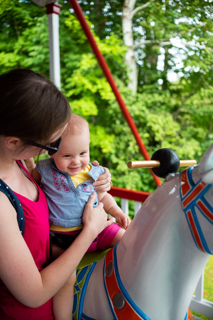 baby's first carousel ride storyland